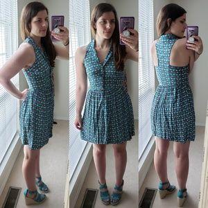 Teal dress / tree dress / teaching dress